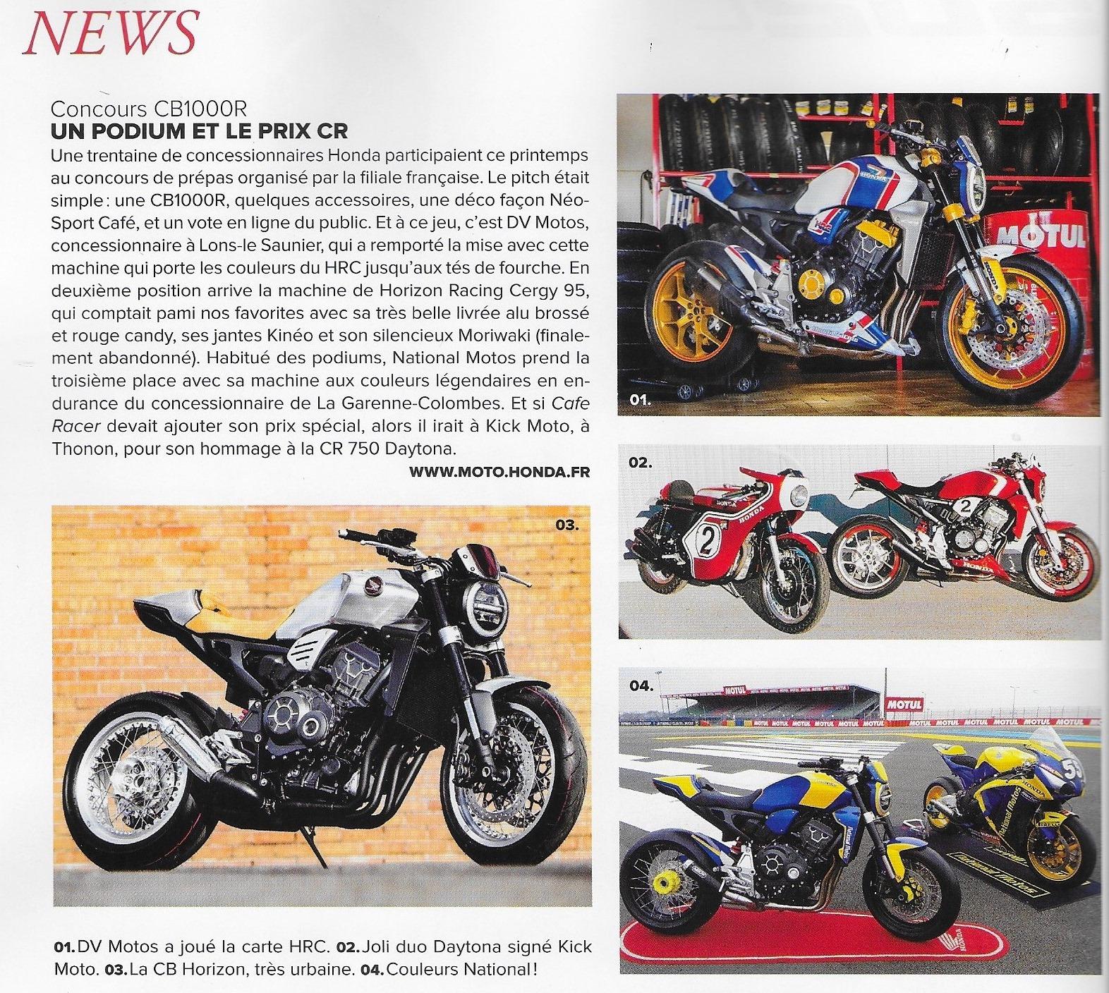 CB 1000 R dans la revue Cafe Racer n° 100