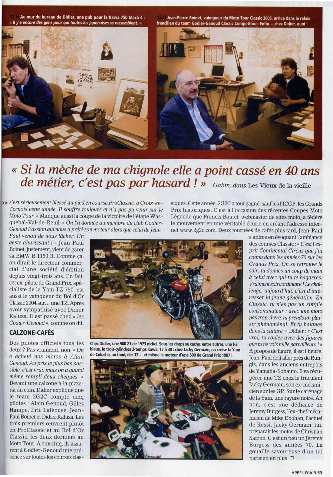 Goider Genoud Moto Journal n°1692 dec 2005 01