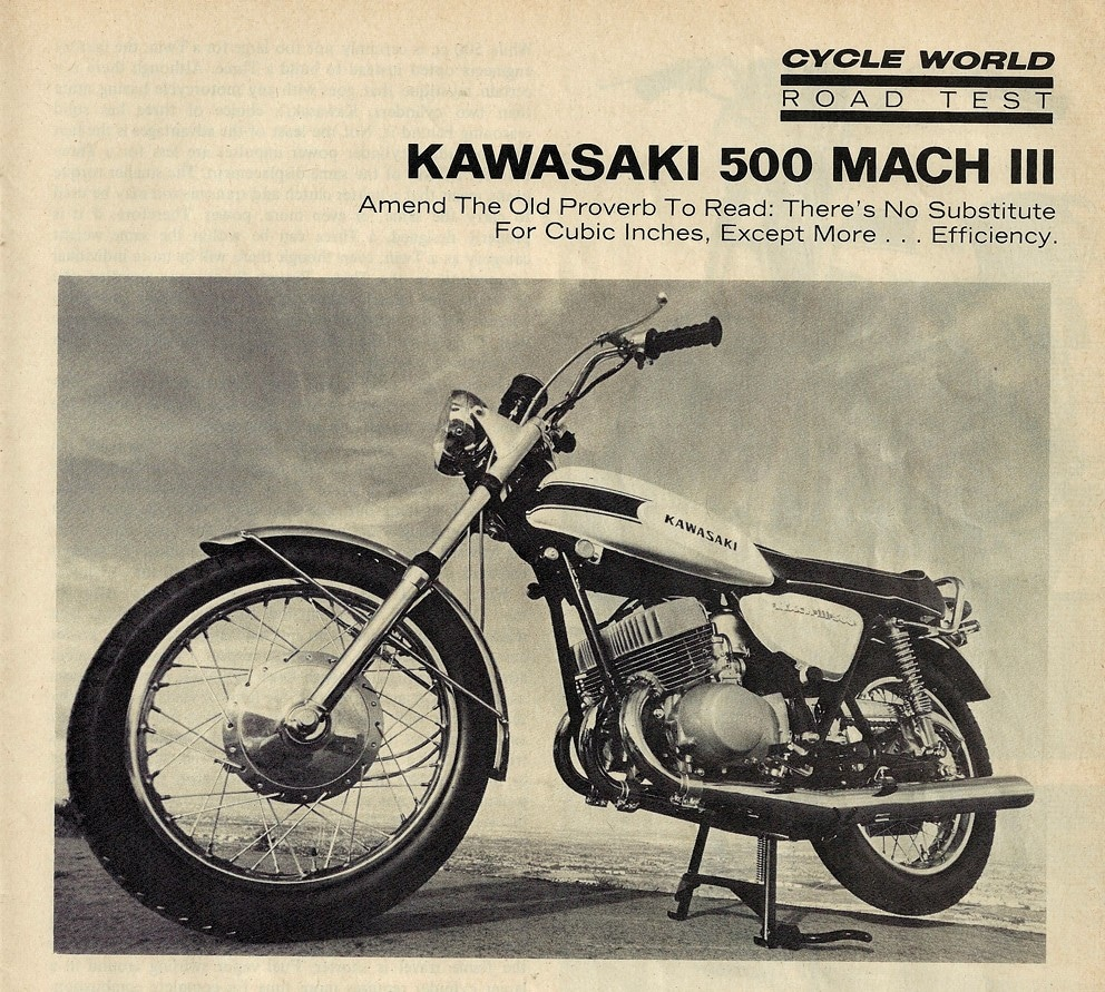 1969+Kawasaki+500+Mach+3+road+test+1